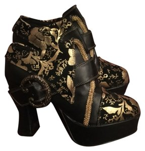 Funtasma black and gold chunky heels/pirate/costume Black And Gold Pumps