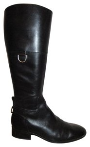 Etienne Aigner Leather Riding black Boots