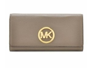 Michael Kors New With Tags Michael Kors Fulton Dark Dune Caryall Wallet
