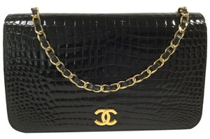 Chanel Vintage Classic Crocodile Evening Shoulder Bag