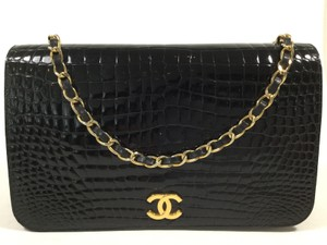 Chanel Vintage Classic Crocodile Shoulder Bag