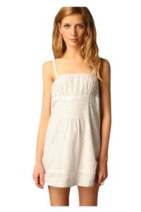 Free People short dress White Anthropologie Urban Outfitters Eyelet Boho on Tradesy