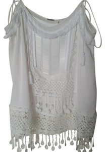 Elie Tahari Embellished Top White