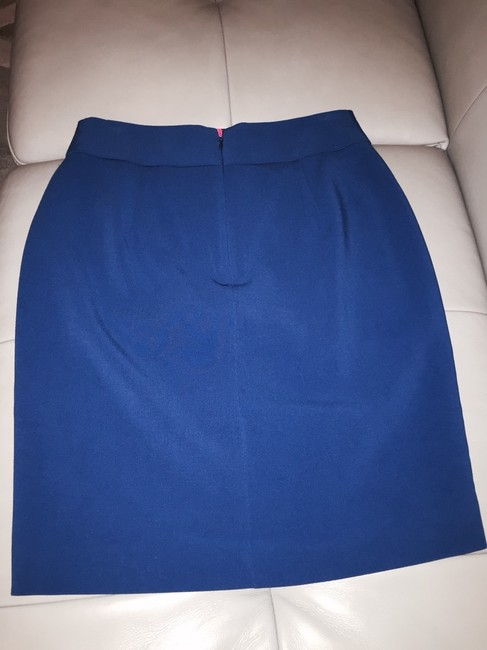 Banana Republic Bow Bow Cute Wear To Work Feminine Cobalt Pencil Pencil Front Vent Work Work Bow S Bows Skirt Blue