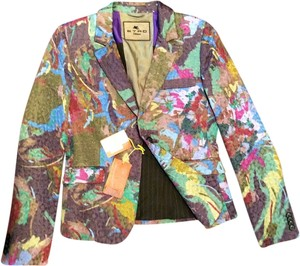 Etro Italian Couture High End Italian Italy Multi Blazer