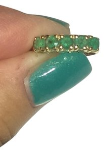 Five stone 1+ ctw natural emerald ring