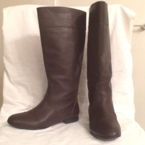 J.Crew Riding Leather Dark Brown Boots