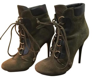Giuseppe Zanotti Suede Bootie Leather olive green Boots