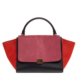Cline Celine Pony Hair Tote in Pink and Red