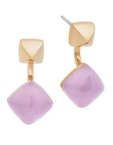 Michael Kors Michael Kors MKJ5469 Adjustable Stud or Drop Amethyst Gold Earrings