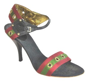 Gucci Canvas Size 37.5 C Multi-color Sandals