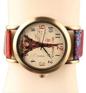 New Eiffel Tower Wrist Watch Brass Tone J2923