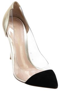 Gianvito Rossi Black, Gold Pumps