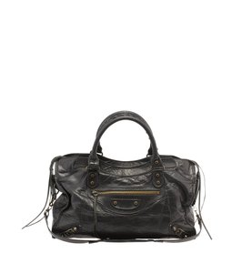 Balenciaga Motorcycle Satchel in Black
