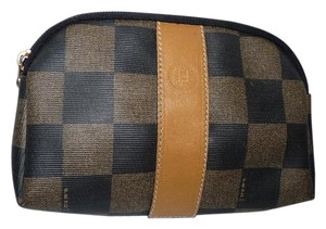 Fendi FENDI MONOGRAM LOGO VINTAGE MAKE UP CLUTCH BAG