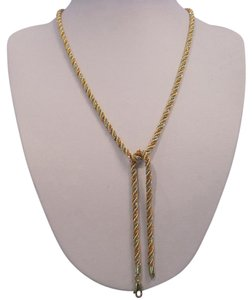 YG_WG_RG Tri-Color 19-Inch Woven Link Chain and 7-Inch Bracelet, 14 KT