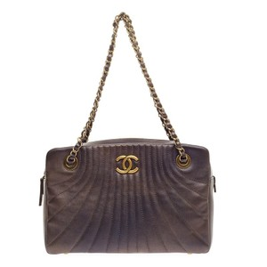 Chanel Leather Satchel in Purple