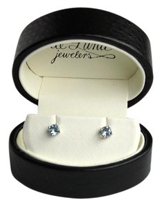DeLuna Jewelers 5mm Aquamarine White Gold Stud Earrings
