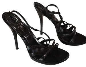 Casadei Black with subtle sparkle Sandals