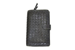 Bottega Veneta Bottega Veneta Intrecciato Black Leather Wallet