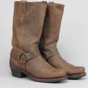 Frye Western Cowboy Leather Chic Brown Boots
