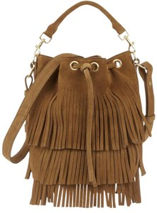 8d6779e506 Added to Shopping Bag. Saint Laurent Fringe Suede Fall Winter Fringed Cross  Body Bag. Saint Laurent Emmanuelle Bucket Fringe Small Shoulder Tan ...