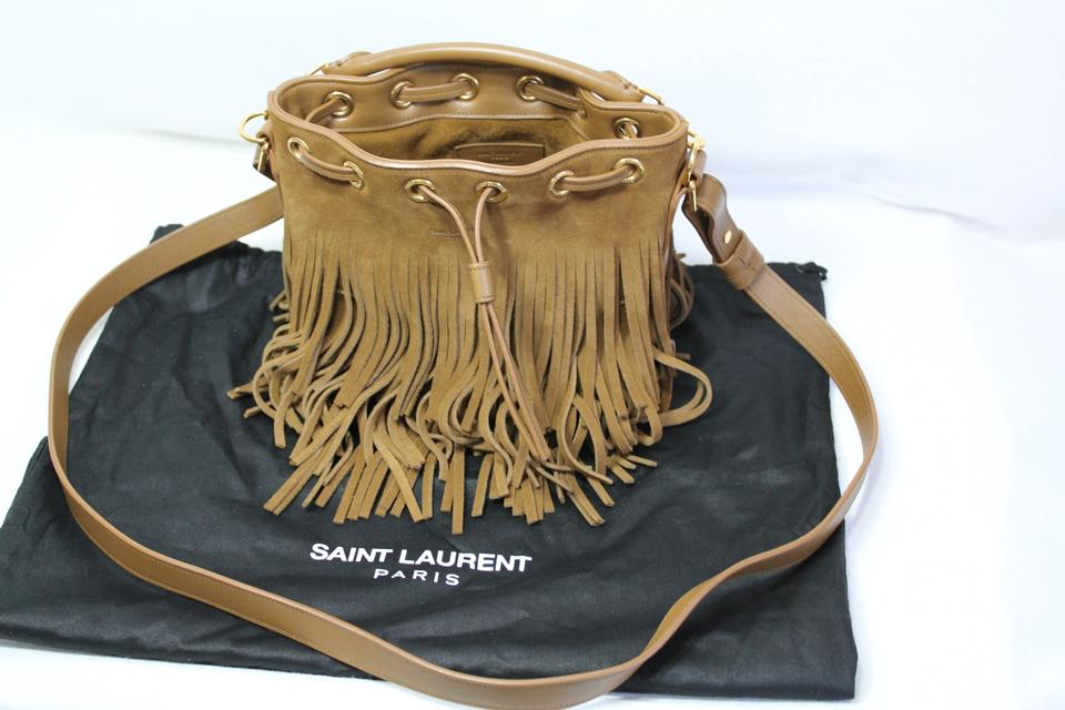 979457c020 Saint Laurent Fringe Suede Fall Winter Fringed Cross Body Bag Image 11.  123456789101112