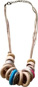 Express Express Wooden Beaded Necklace
