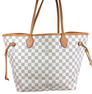 Louis Vuitton Lv Tote Damier Canvas Medium Shoulder Bag