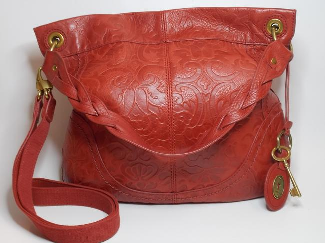 Item - Colby Red Leather Hobo Bag