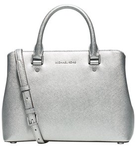 Michael Kors Savannah Satchel in Silver