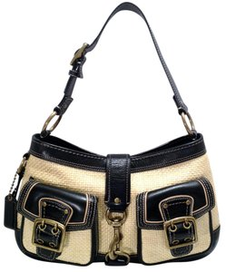 Coach Leather Dog Latch Shoulder Bag