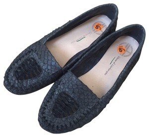 House of Harlow 1960 Loafers Moccasins Textured Black Flats