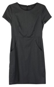 Theory Pinstripe Gray Kabilla Dress