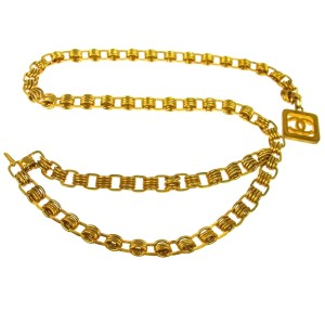 Chanel Chanel Vintage Gold CC Charm Chain Link Belt