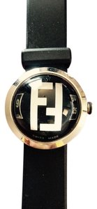 Fendi fendi orologi watch,bubble dome,silver logo hardware,flex rubber band