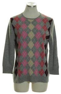J.Crew Cashmere Printed 3/4 Sleeve Sweater
