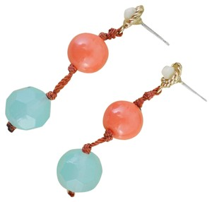 Other Vintage Turquoise and Coral Earrings - Turquoise Dangle Earrings
