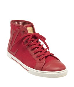 Louis Vuitton Canvas Leather Lv Red Athletic