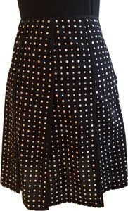 Nine West Pleated Above Knee Polka Dot Size 6 Size 6 Size Small Size 6 Polka Dot Pleated Size 6 Pleated Size 6 Skirt Black and White