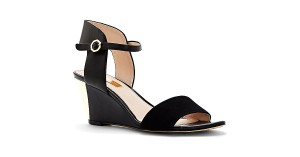 Louise et Cie Leather Suede Black Sandals