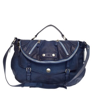 Alexander McQueen Blue Messenger Bag