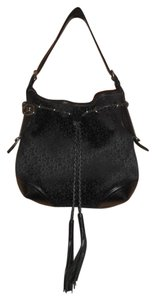 DKNY Leather Monogram Shoulder Bag