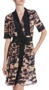 BCBGMAXAZRIA Draped Wrap Silk Dress