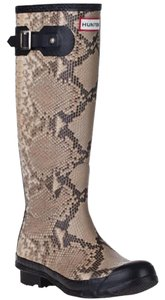 Hunter Tan, Snakeskin Pattern Boots