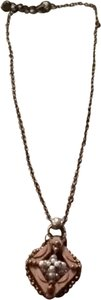 Anthropologie Anthropologie Wood And Beaded Pendent Necklace