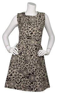 Thakoon Sleeveless Floral Metallic Dress