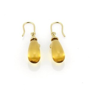 Tiffany & Co. Paloma Picasso Olive Leaf Citrine 18k Yellow Gold Dangle Earrings