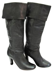Steve Madden Size 8.50 M Leather Very Good Condition Black Boots