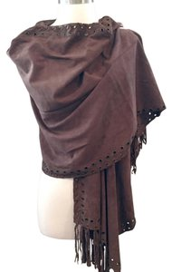 Anthropologie Anthropologie Brown Suede Tassel Scarf